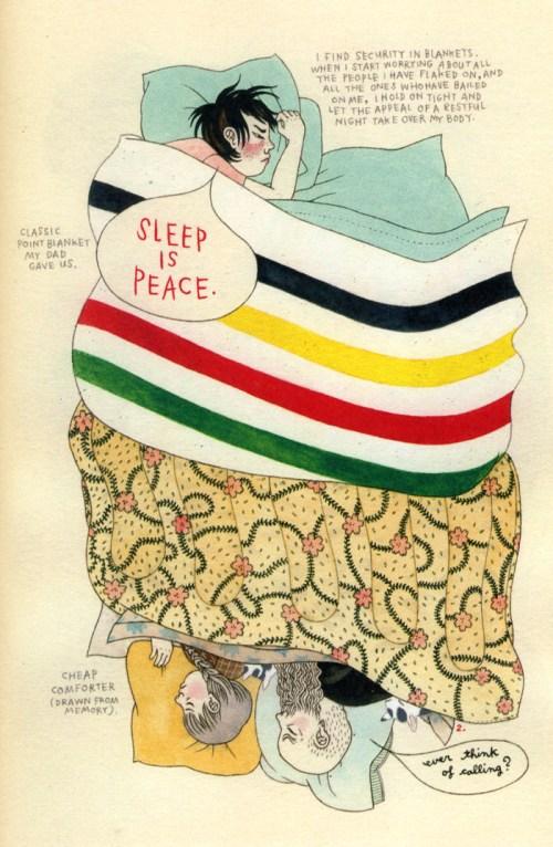 "From ""Blanket Portraits"" by Geneviève Castrée Elverum"