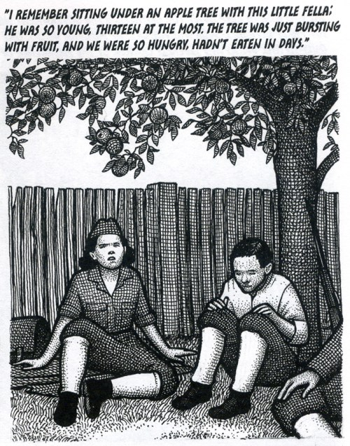 """Panel excerpt from """"Fatherland"""" by Nina Bunjevac"""