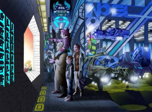 A utopian scene