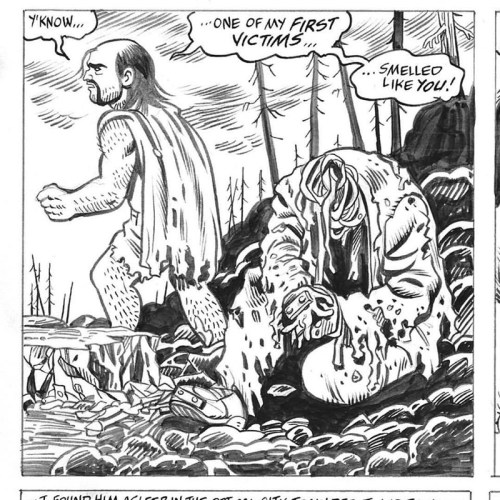 Panel work-in-progress from All Time Comics: writing, pencils, by Josh Bayer; inks by Al Milgrom; letters by the great Rick Parker.