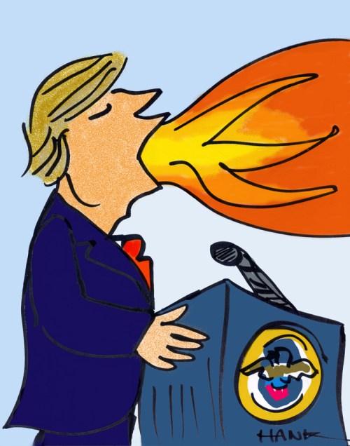 RESIST TRUMP! Illustration by Henry Chamberlain.