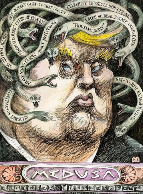 Donald Trump illustration, 2016, for Vanity Fair.