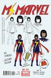 Ms. Marvel #1 Design Variant by Jamie McKelvie