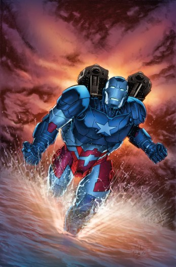 Iron Patriot #1 Variant Cover by Mike Perkins