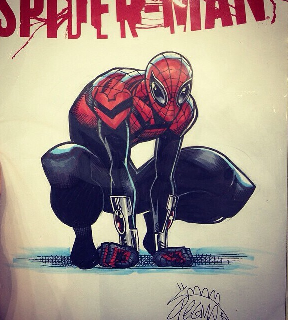 Superior Spider-Man (inked: Mark Morales, Colored: Laura Martin)