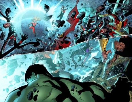 Fantastic Four #6 Original Sin Tie-In Preview 2 Art by Leonard Kirk/Dean Haspiel