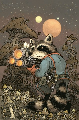 Rocket Raccoon #1 Variant Cover by David Petersen