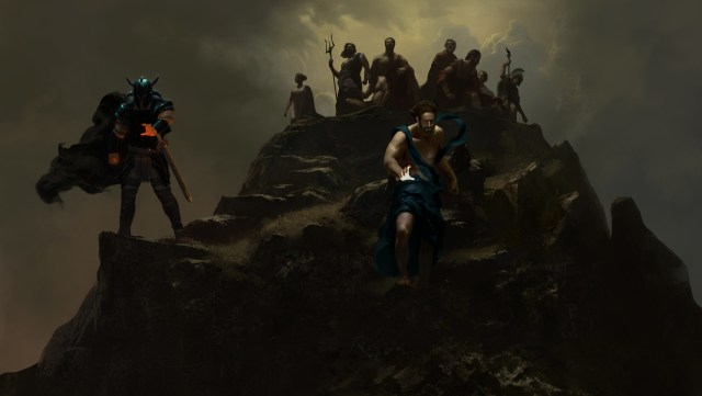 GODS ATOP OLYMPUS WITH ARES