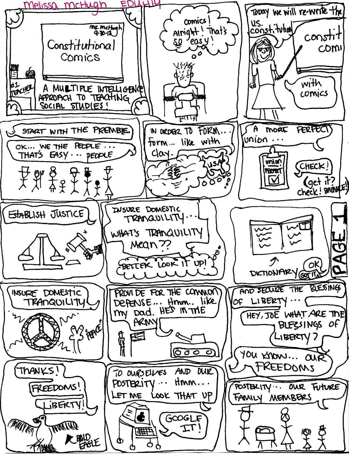 Constitutional Comics By Melissa Mchugh