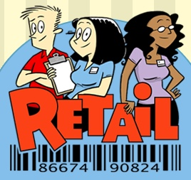Retail comic logo