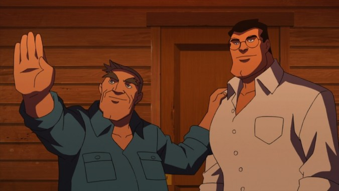 Jonathan and Clark Kent in Superman vs. the Elite