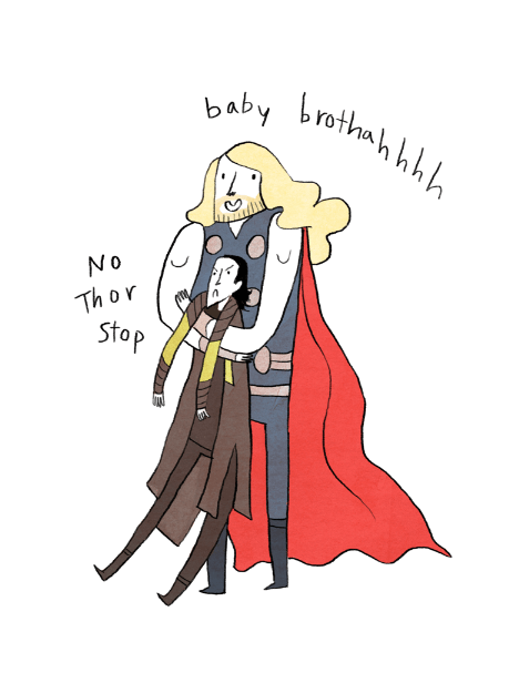 Thor and Loki by Noelle Stevenson