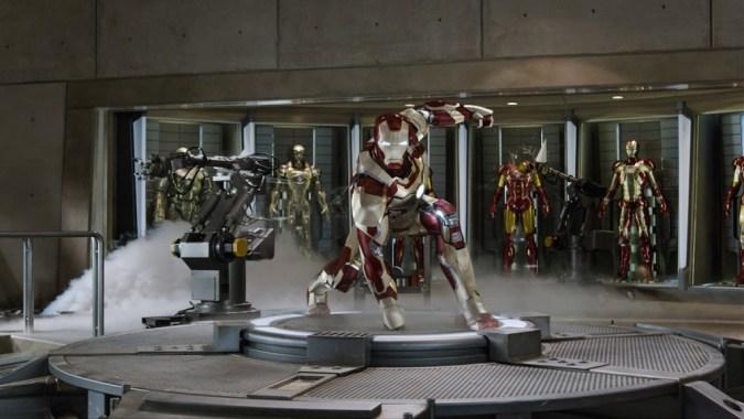 Iron Man armors in Iron Man 3