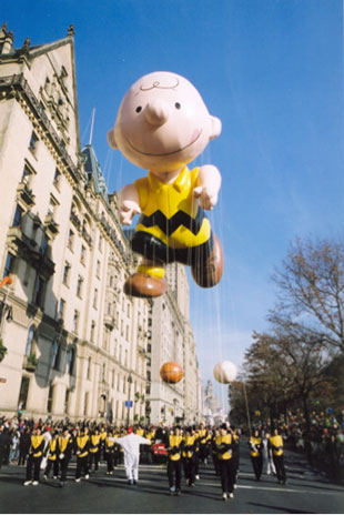 Charlie Brown parade balloon