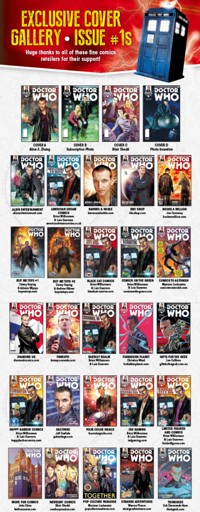 Doctor Who: Ninth Doctor variant covers