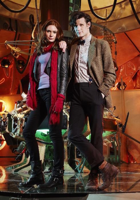 Karen Gillan (Amy) and Matt Smith (The Doctor)