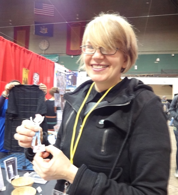 Jana Christy shows off her happy punk paper dolls