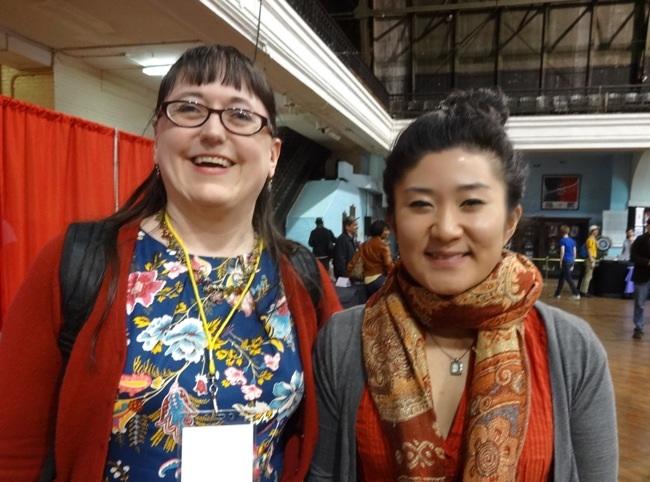 Johanna and Connie Sun at MoCCA 2013
