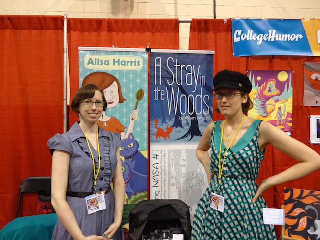 Alisa Harris and Alison Wilgus at MoCCA Fest 2014