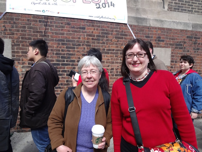 Brigid Alverson and Johanna Draper Carlson at MoCCA Fest 2014