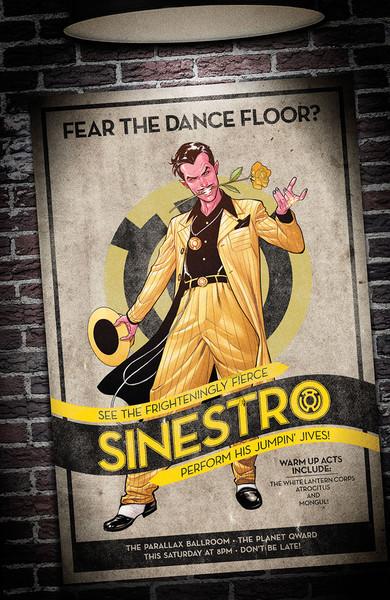 Sinestro #14 bombshells variant cover