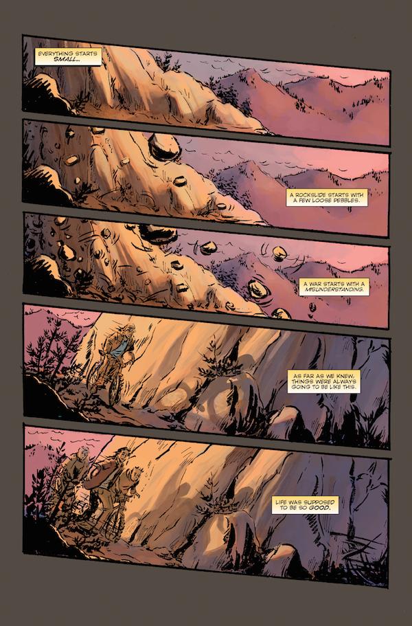 Elk's Run sample page 1