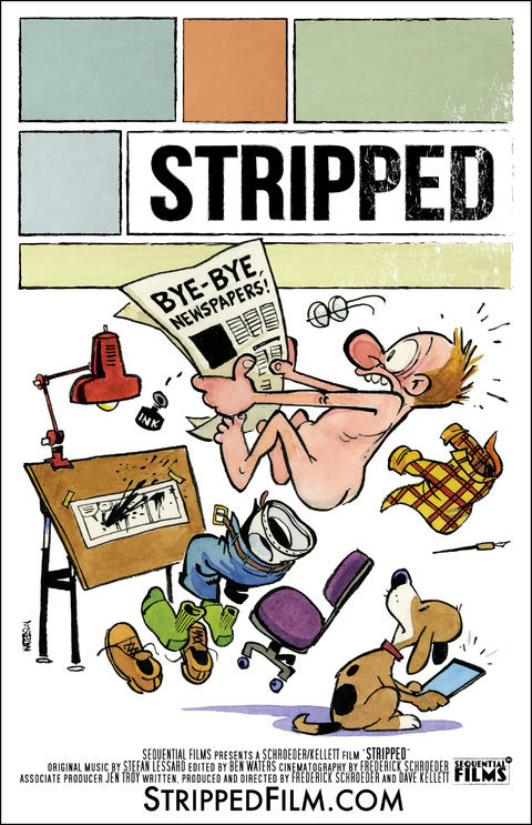 Stripped poster by Bill Watterson