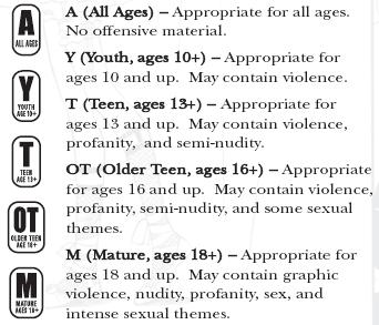 Tokyopop rating system