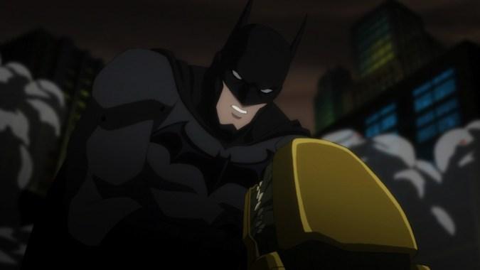 Batman fights a Parademon in Justice League: War