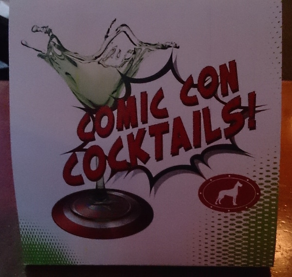 Comic Con Cocktails flyer