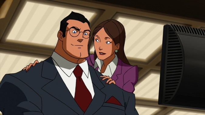 Clark and Lois work together in Superman vs. the Elite