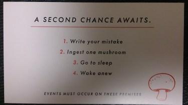 Seconds promo card