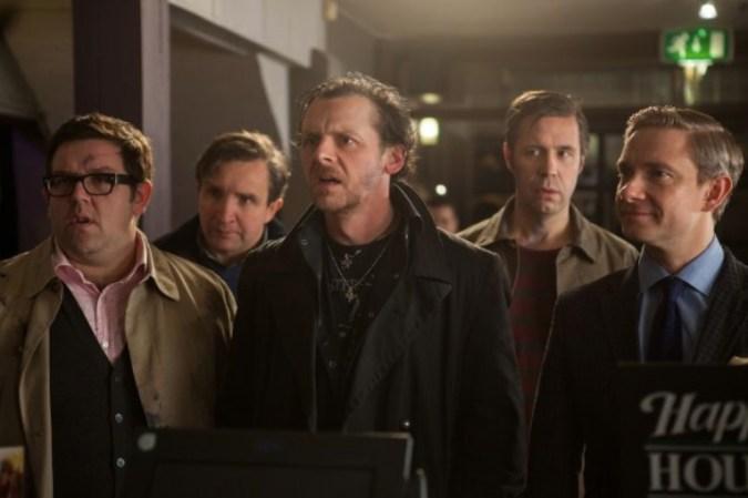 Nick Frost, Eddie Marsan, Simon Pegg, Paddy Considine, and Martin Freeman in The World's End