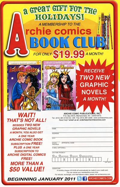 Archie Book Club ad