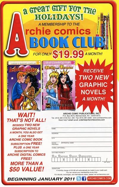 Archie Book Club ad