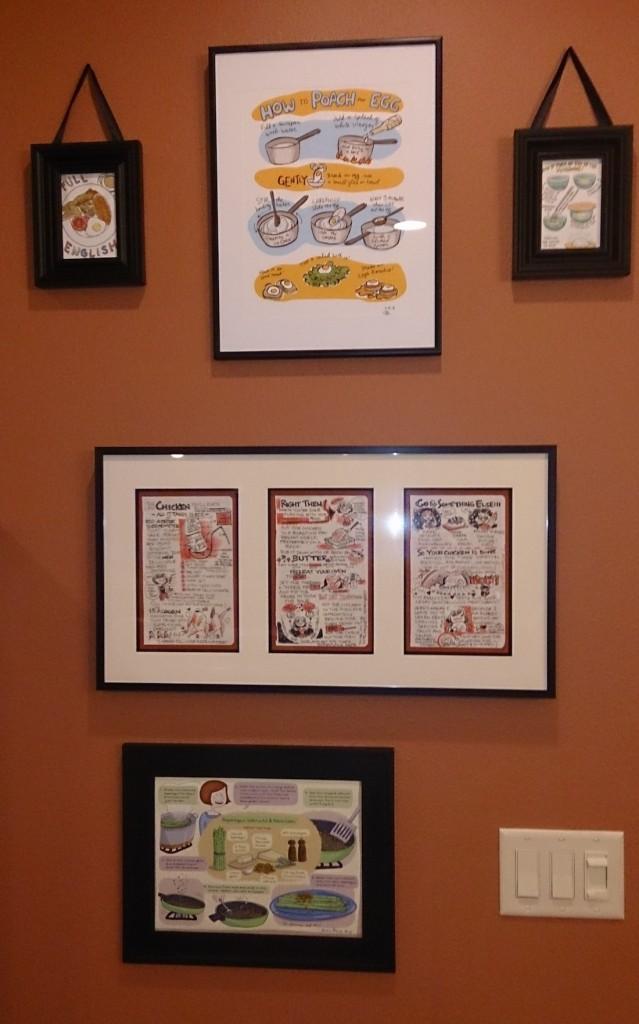 Food art wall