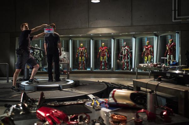 Filming Iron Man 3