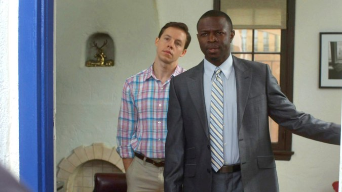 Blake Bashoff and Sean Patrick Thomas in Finding Neighbors