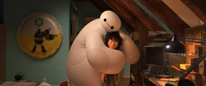 Baymax hugs Hiro from Big Hero 6