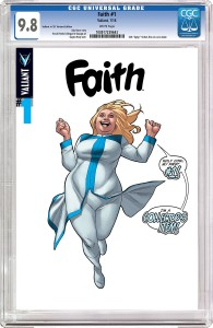 Faith #1 CGC variant cover by Clayton Henry