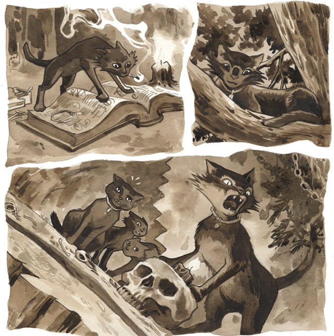 Beasts of Burden: What the Cat Dragged In sample art