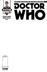 Doctor Who: The Eighth Doctor #1 blank sketch cover