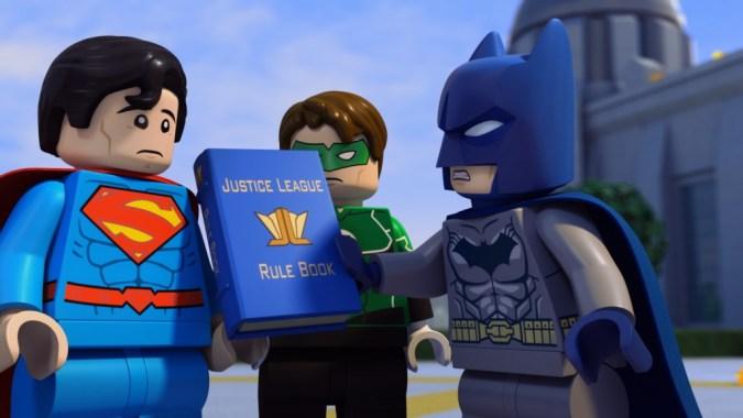 Batman's rule book in LEGO DC Comics Super Heroes: Justice League: Cosmic Clash