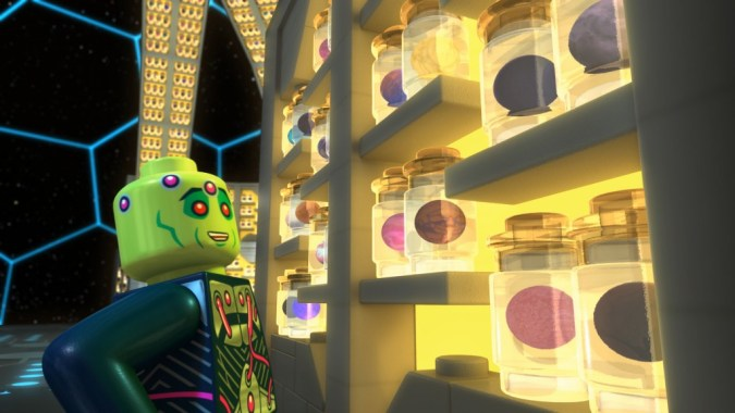 Brainiac's planet collection in LEGO DC Comics Super Heroes: Justice League: Cosmic Clash