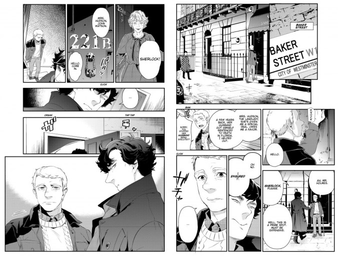 Sherlock manga art by Jay
