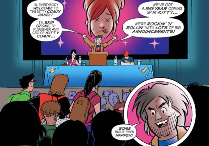 Panel from Die Kitty Die! #3