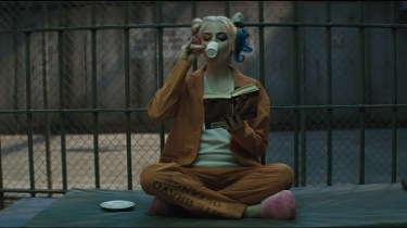 Harley Quinn in her cell in Suicide Squad