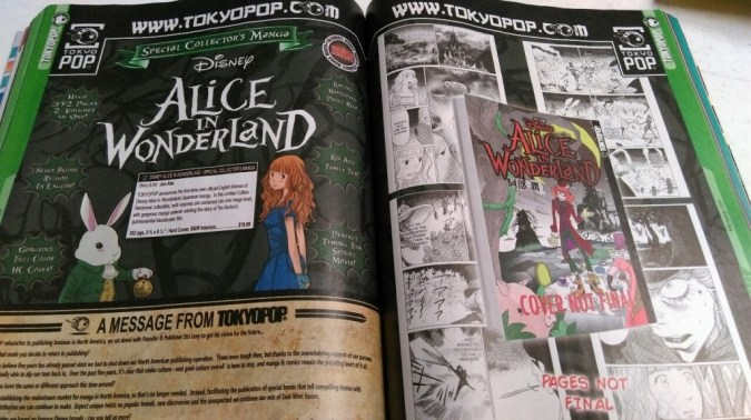 Tokyopop Alice in Wonderland solicitation