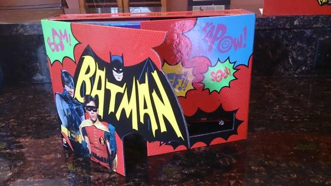 The front of the Batman: The Complete Series box opens up