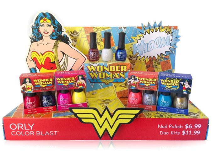 Wonder Woman nail polish display